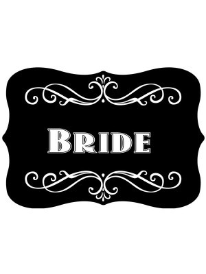 'Bride' Vintage Style Photo Booth Prop