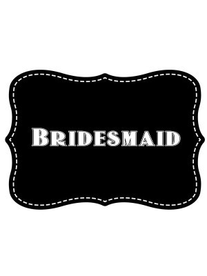 'Bridesmaid' Vintage Style Photo Booth Prop