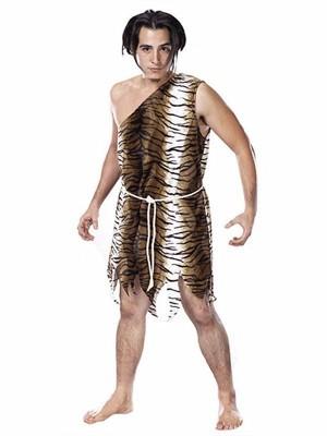 Brown Caveman Fancy Dress Costume