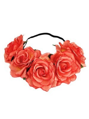 Beautiful Coral Garland Flower Headband