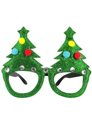 Christmas Tree And Bauble Christmas Glasses