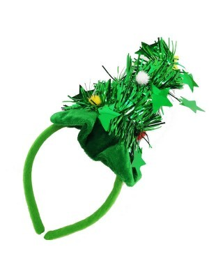 Christmas Tree Tinsel with Green Headband