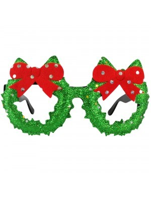 Christmas Wreath with Ribbons Christmas Glasses