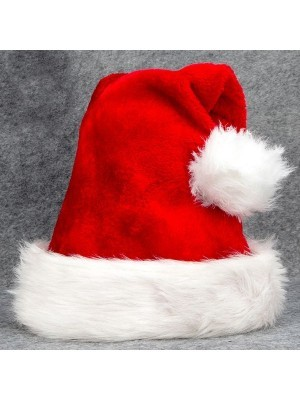 Classic Luxury Red Santa Hat