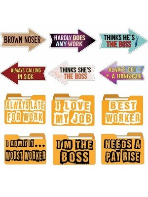Set of 6 PVC Corporate – Work Themed Photo Booth Props