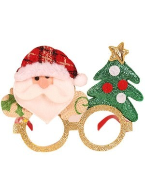 Cosy Santa and Christmas Tree Christmas Glasses