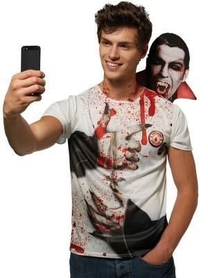 Count Dracula Vampire'`Selfie' T-Shirt Halloween Costume
