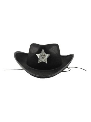 Cowboy Sheriff Hat Black
