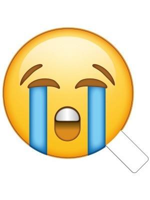 Crying Streams Emoji Photo Booth Prop