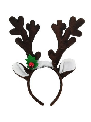 Dark Brown Reindeer Antlers Headband