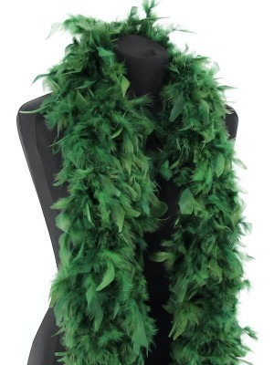 Deluxe Pine Green Feather Boa – 100g -180cm