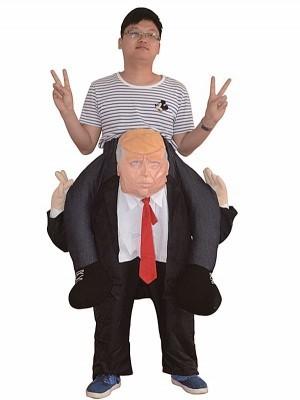 Donald Trump Ride Inflatable Joke Illusion Fancy Dress Costume