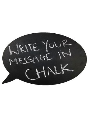 Double Sided Speech Bubble Chalkboard Photobooth Prop
