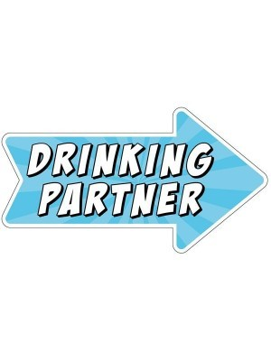 Drinking Partner Word Board Photo Booth Prop
