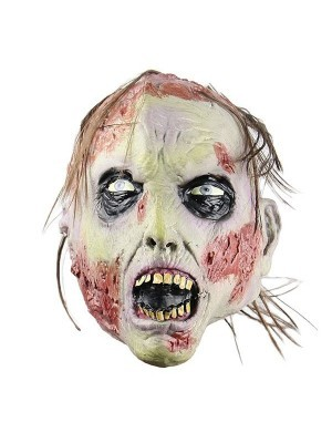 Blood Covered Scarred Zombie Mask Halloween Fancy Dress Costume