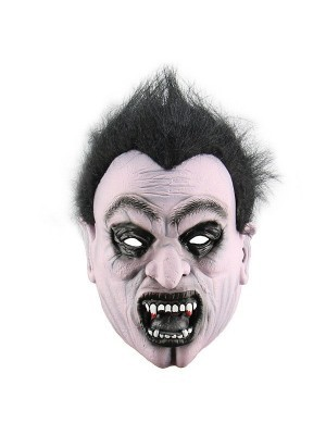 Dark Crazed Vampire Mask Halloween Fancy Dress Costume