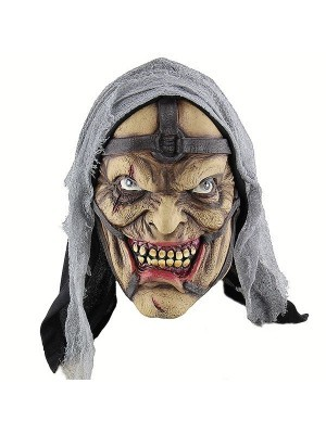 Evil Witch Hag Mask Halloween Fancy Dress Costume