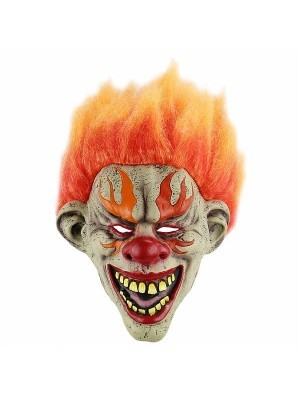 Fancy Dress, Costume Fiery Clown Mask