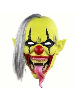 Fancy Dress, Costume Yellow Faced Clown Mask