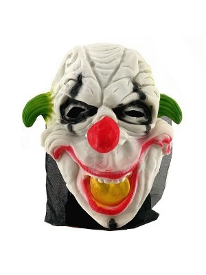 Smiling Clown Head Mask Halloween Fancy Dress Costume