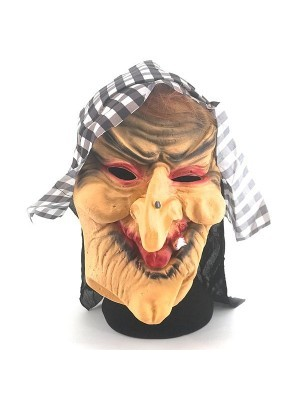 Old Hag Wicked Witch Mask Halloween Fancy Dress Costume