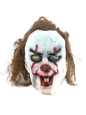 Scary Trick or Treat Clown Mask Halloween Fancy Dress Costume