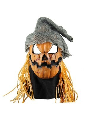 Evil Smashing Jack Pumpkin Mask Halloween Fancy Dress Costume