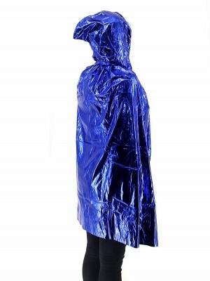 Fancy Dress, Costume Short Adult Shiny Blue Cloak