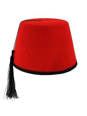 Red Felt Fez Hat