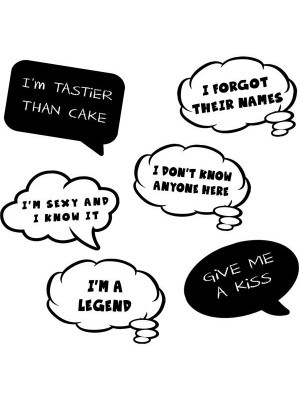 Cheeky and Fun Speech Bubble Multi Pack of 6
