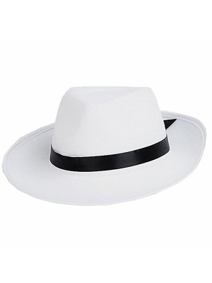 Gangster Hat White