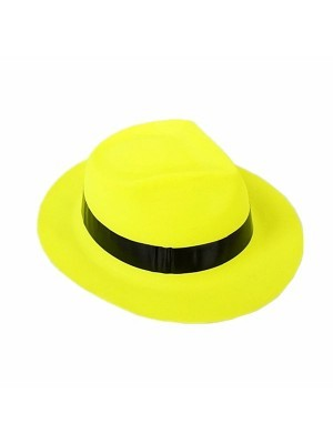 Shiny Yellow Gangster Hat