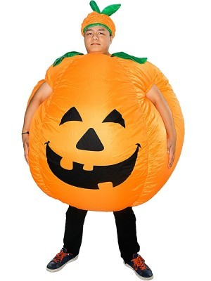 Giant Pumped up Pumpkin Inflatable Halloween Fancy Dress Costume