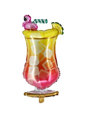 Giant Summer Cocktail With Flamingo Glass Balloon