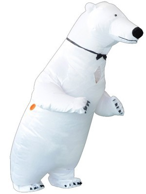 Giant White Polar Bear Inflatable Fancy Dress Costume