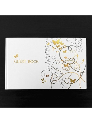 Gold Butterfly Guestbook