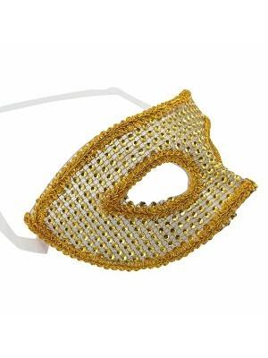 Classic Style Gold Diamante Masquerade Mask