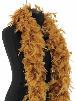 Deluxe Gold Feather Boa - 100g -180cm