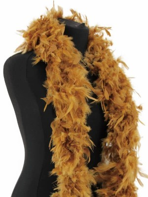 Luxury Gold Feather Boa – 80g -180cm