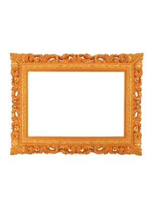 Golden Colour Antique Style Square Posing Frame