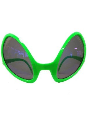 Green Alien Bug Eye Sunglasses