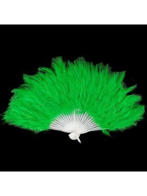 Stunning Green Feather Fan