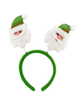 Green Santa Claus Christmas Head Bopper