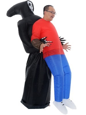 Grim Reaper Halloween Kidnap Inflatable Illusion Fancy Dress Costume