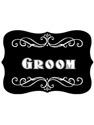 'Groom' Vintage Style Photo Booth Prop