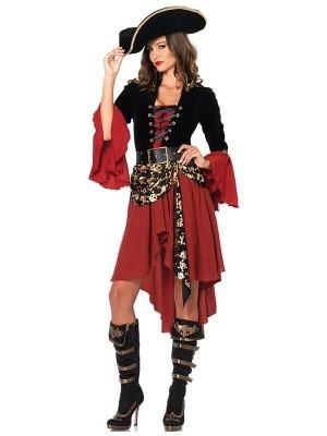 Gypsy Style True Pirate Fancy Dress Costume UK 8-10