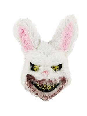 Halloween Fancy Dress Costume Killer White Bunny Face Mask