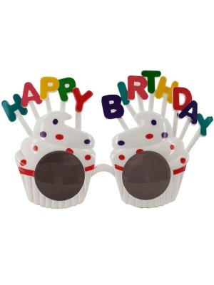 White Happy Birthday Cakes With Candles Birthday Glasses