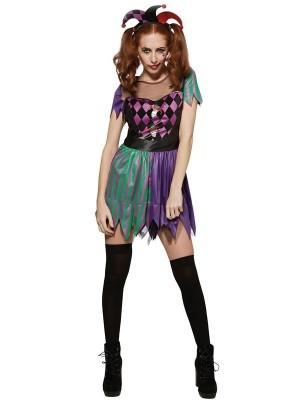 Harley Quinn Style Jester Women's Costume