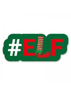 #Elf Trending Hashtag Oversized Photo Booth PVC Word Board Sign